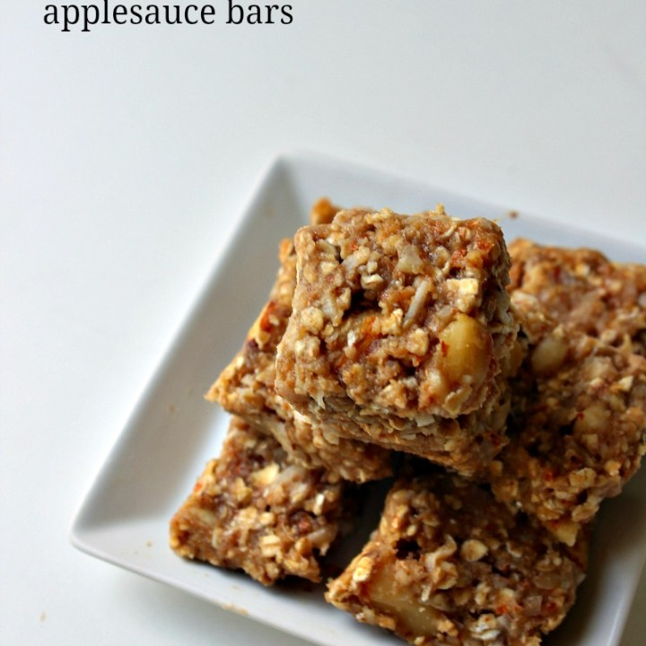 Pecan Pie M&M's®-Loaded Applesauce Cake Bars