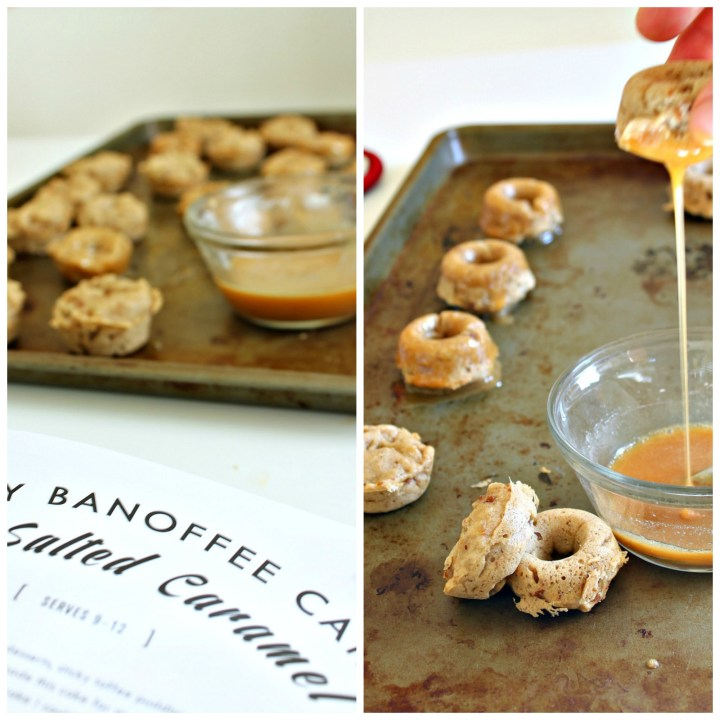 Mini Samoas Sticky Banoffee Cake Donuts {+ topwithcinnamon cookbook giveaway}
