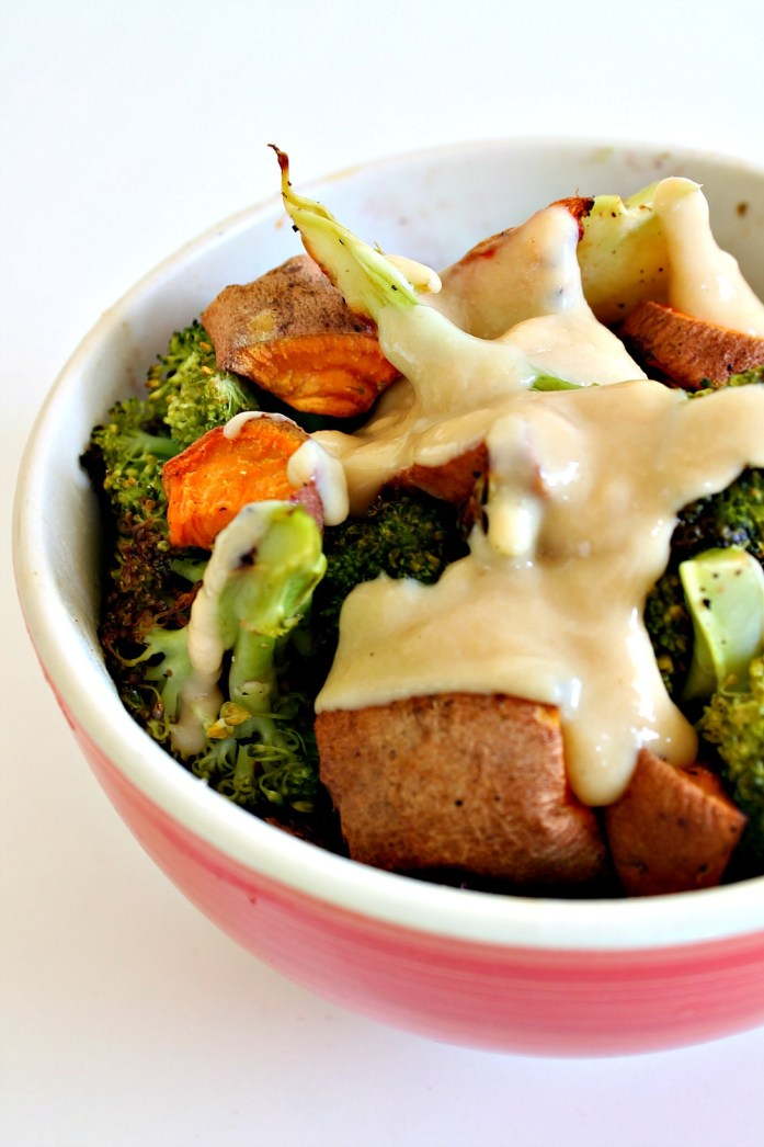 Roasted-Broccoli-and-Sweet-Potato-Black-Rice-Bowl-Sesame-Dressing 3--051215