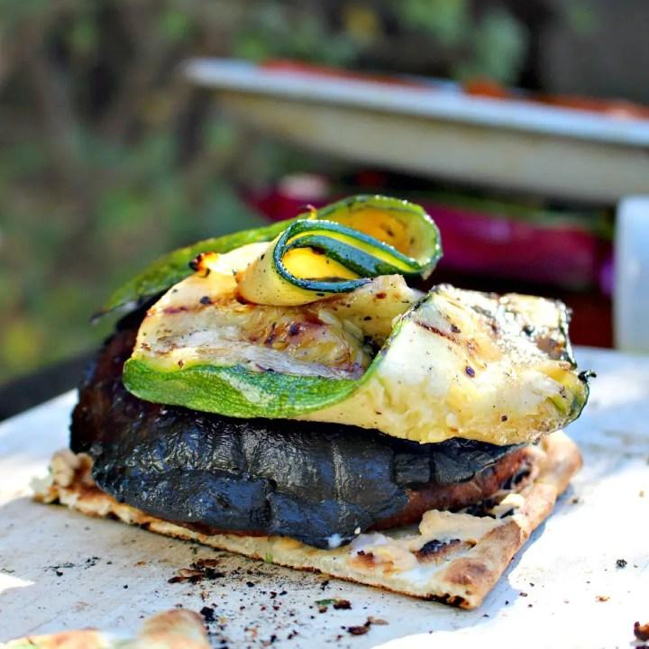 Grilled Vegetable & Veggie Burger Naan-wich