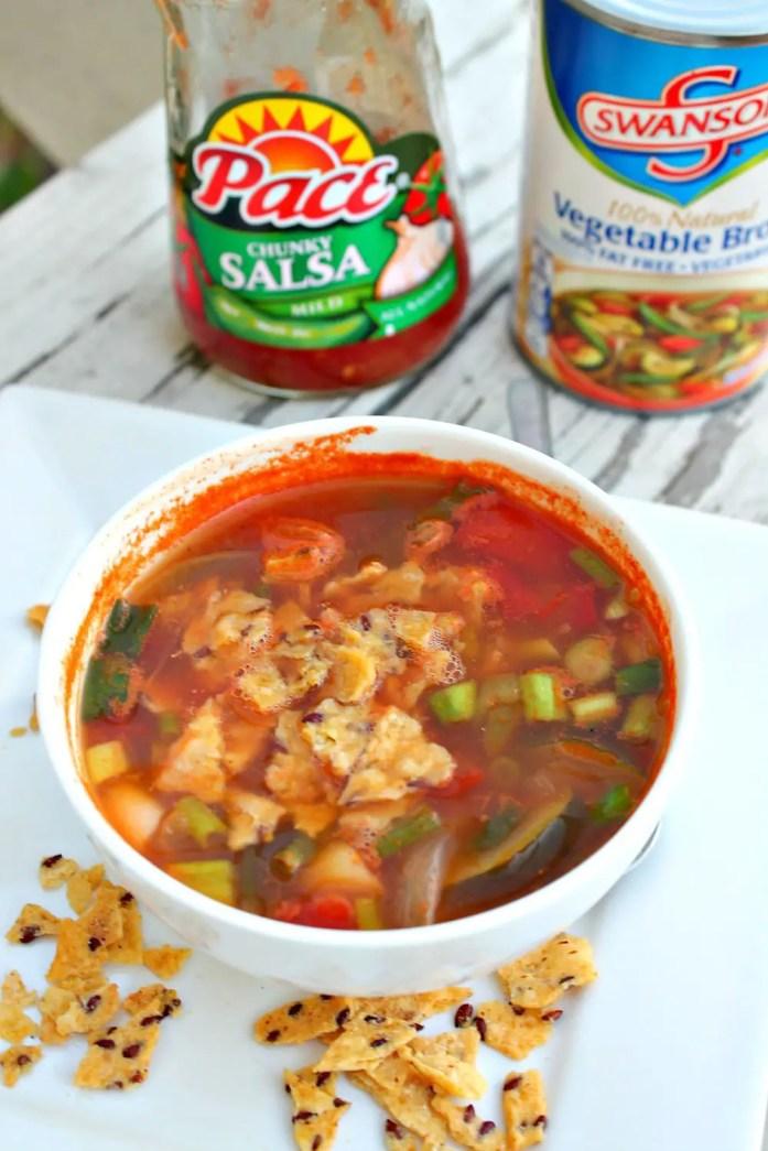 Vegetarian Tortilla Soup 1--072715