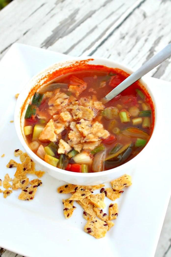 Vegetarian Tortilla Soup 12--072715