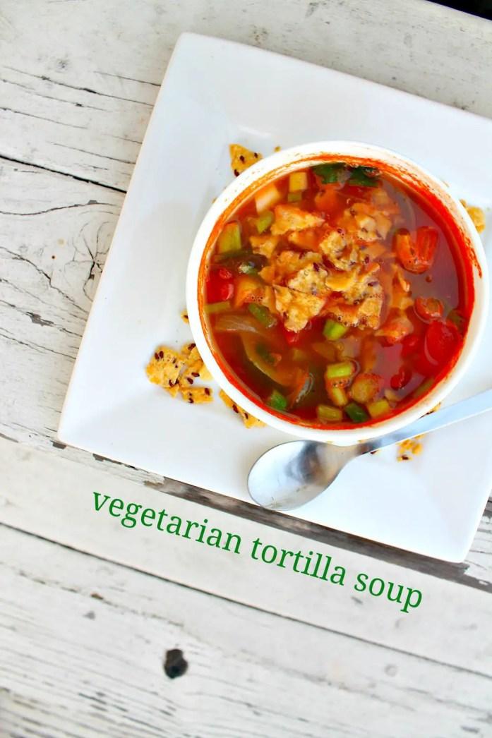 Vegetarian Tortilla Soup 5--072715