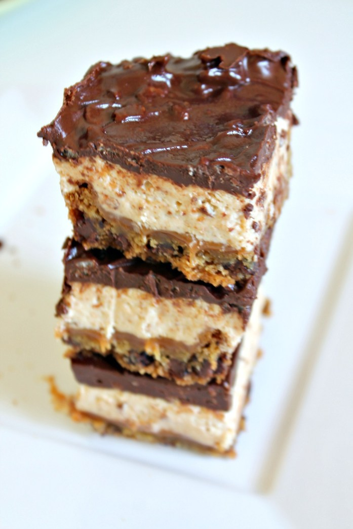 4-Layer Nougat Caramel Cookie Ganache Krispies Bars 10--100115