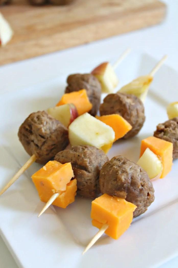 Apple Cheddar Veggie Meatball Skewers 12--101115