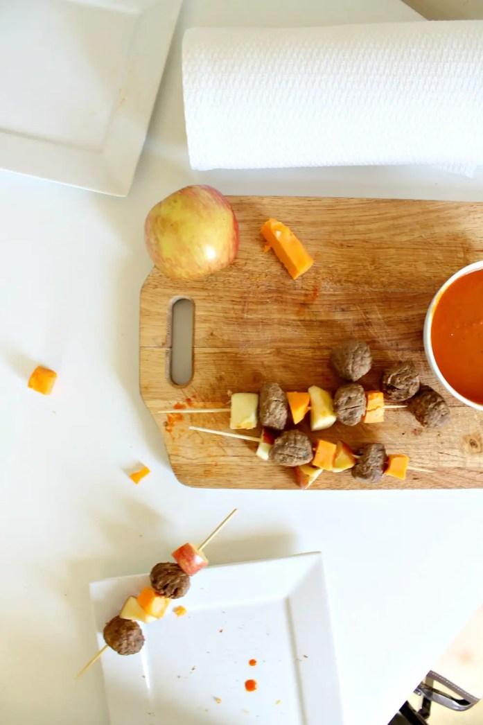 Apple Cheddar Veggie Meatball Skewers 2--101115