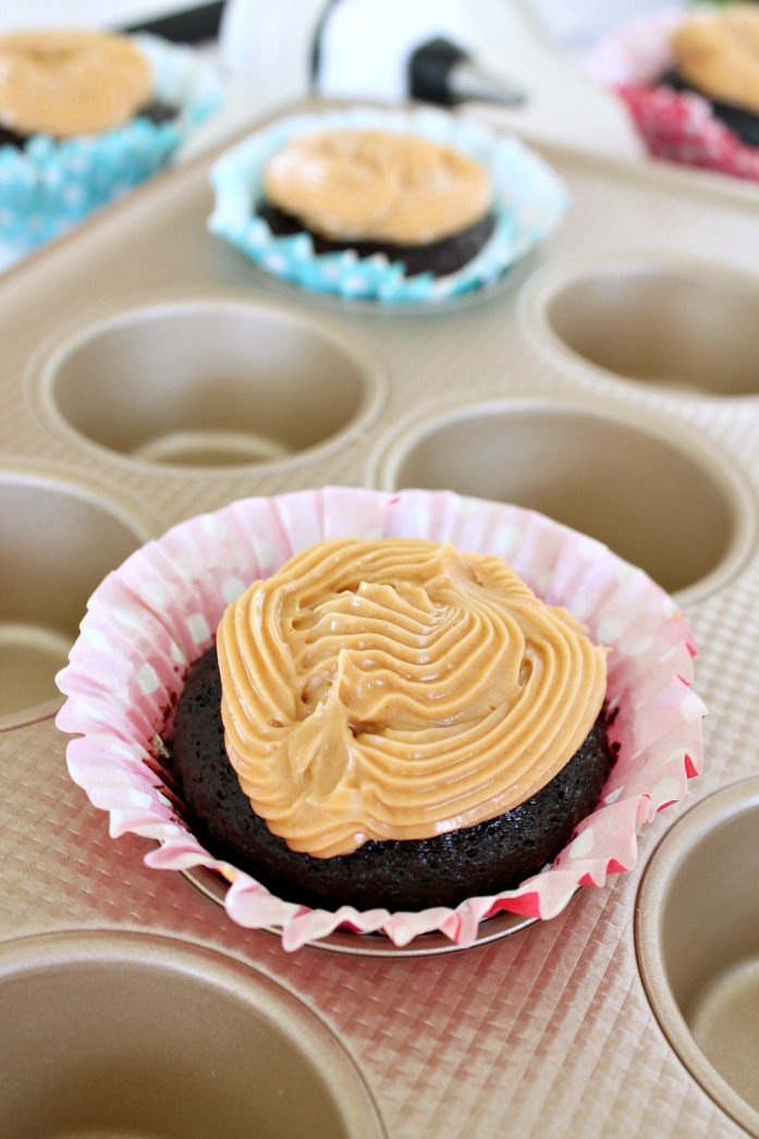 Vegan Chocolate Cupcakes with Peanut Butter Frosting 6--102915