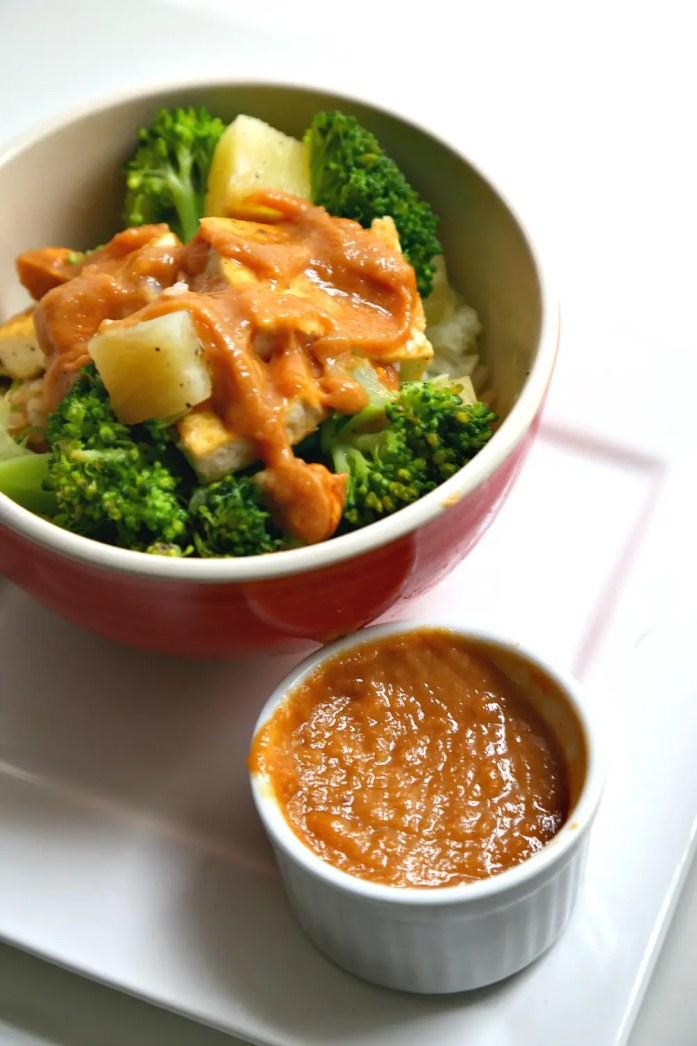 Tofu Pineapple Veggie Rice Bowl 8--020116