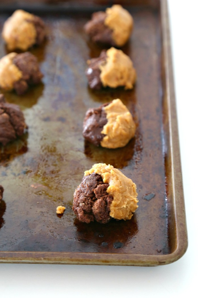 Peanut Butter Chocolate Swirl Cookies with Easter PB Eggs 1--030616