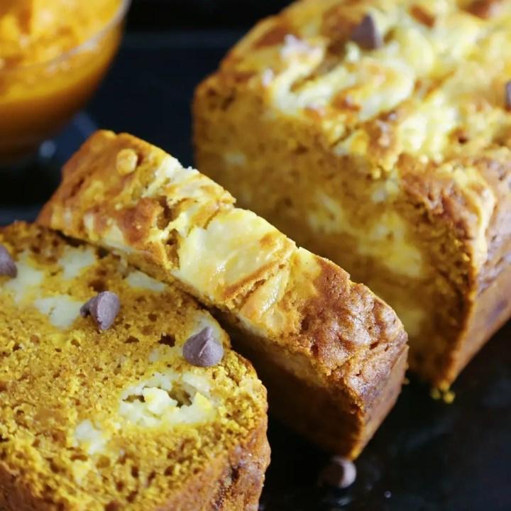 Cheesecake Swirl Pumpkin Bread