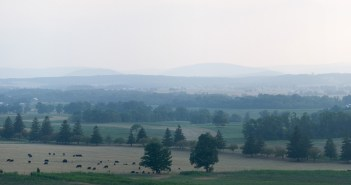 Looking West over Gettysburg, PA