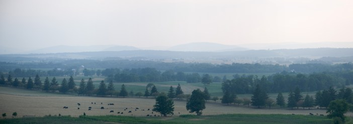 Looking West over Gettysburg, PA