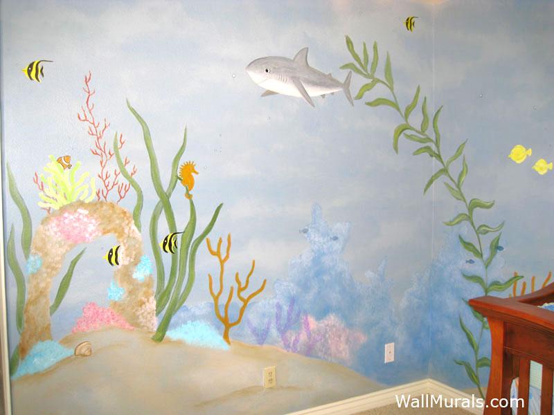 Ocean Wall Murals Beach Theme Underwater Wall Murals By Colettewall Murals By Colette