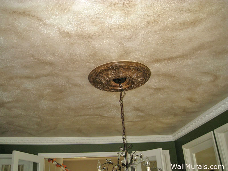 Faux Painted Dining Room Ceiling And Medallion