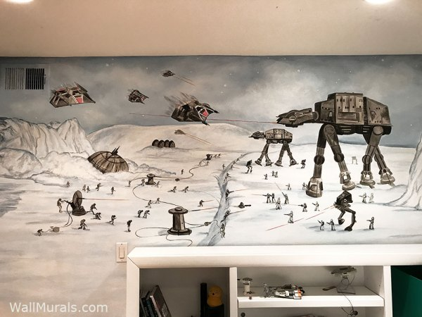 Space Wall Murals - Hand-painted Space Wall Art | Wall ...