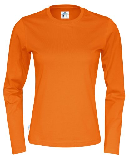 Cottover - 141019 - T-Shirt LS Lady - Orange (290)