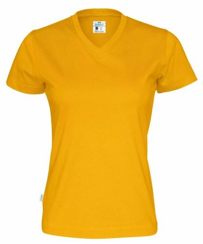 Cottover - 141020 - T-shirt V-neck Lady - Gul (255)