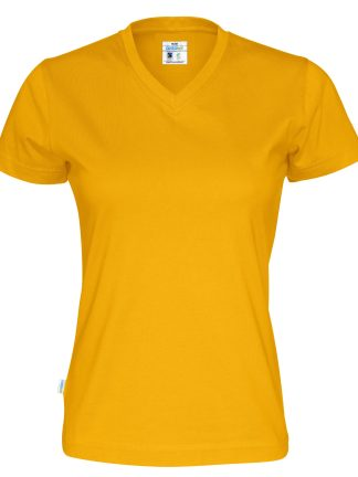 Cottover - 141020 - T-shirt V-neck Lady - Gul (255)