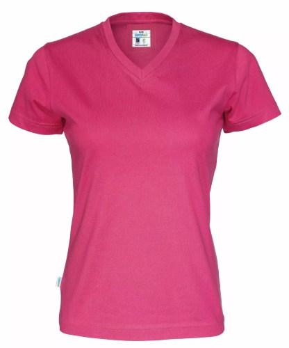 Cottover - 141021 - T-shirt V-neck Lady - Cerise (435)