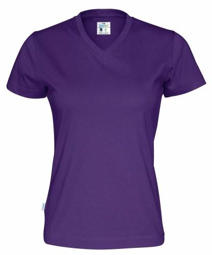 Cottover - 141021 - T-shirt V-neck Lady - Lilla (885)