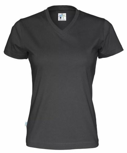 Cottover - 141021 - T-shirt V-neck Lady - Sort (990)