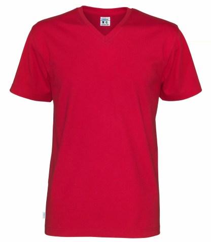 Cottover V neck T-skjorte herre - rød (460)