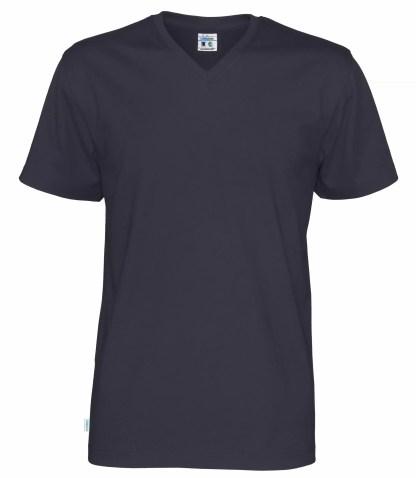 Cottover V neck T-skjorte herre - marineblå (855)