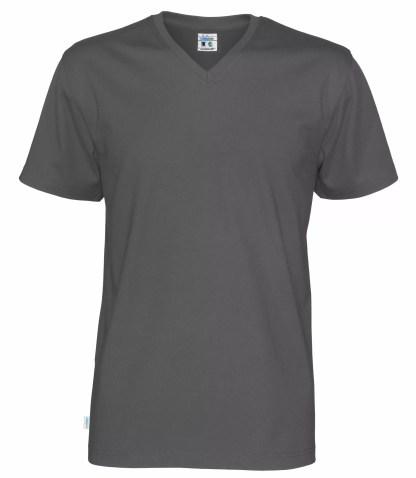 Cottover V neck T-skjorte herre - grå (980)