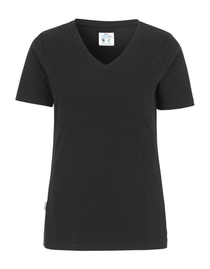 Cottover - 141025 - T-shirt V-neck Slim Fit Lady - Sort (990)
