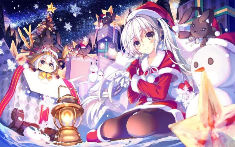 christmas anime wallpaper | Reviewwalls.co