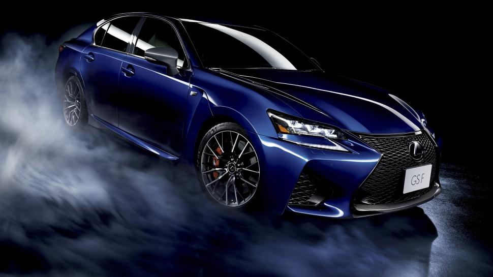 Looking for an awesome new wallpaper? Lexus Gs F Blue Car Black Background Wallpaper Cars Wallpaper Better