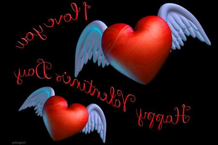 Images of Love 3d Wallpapers For Mobile    SpaceHero Winged Valentine Hearts Red Love You Day 3D Hd wallpaper