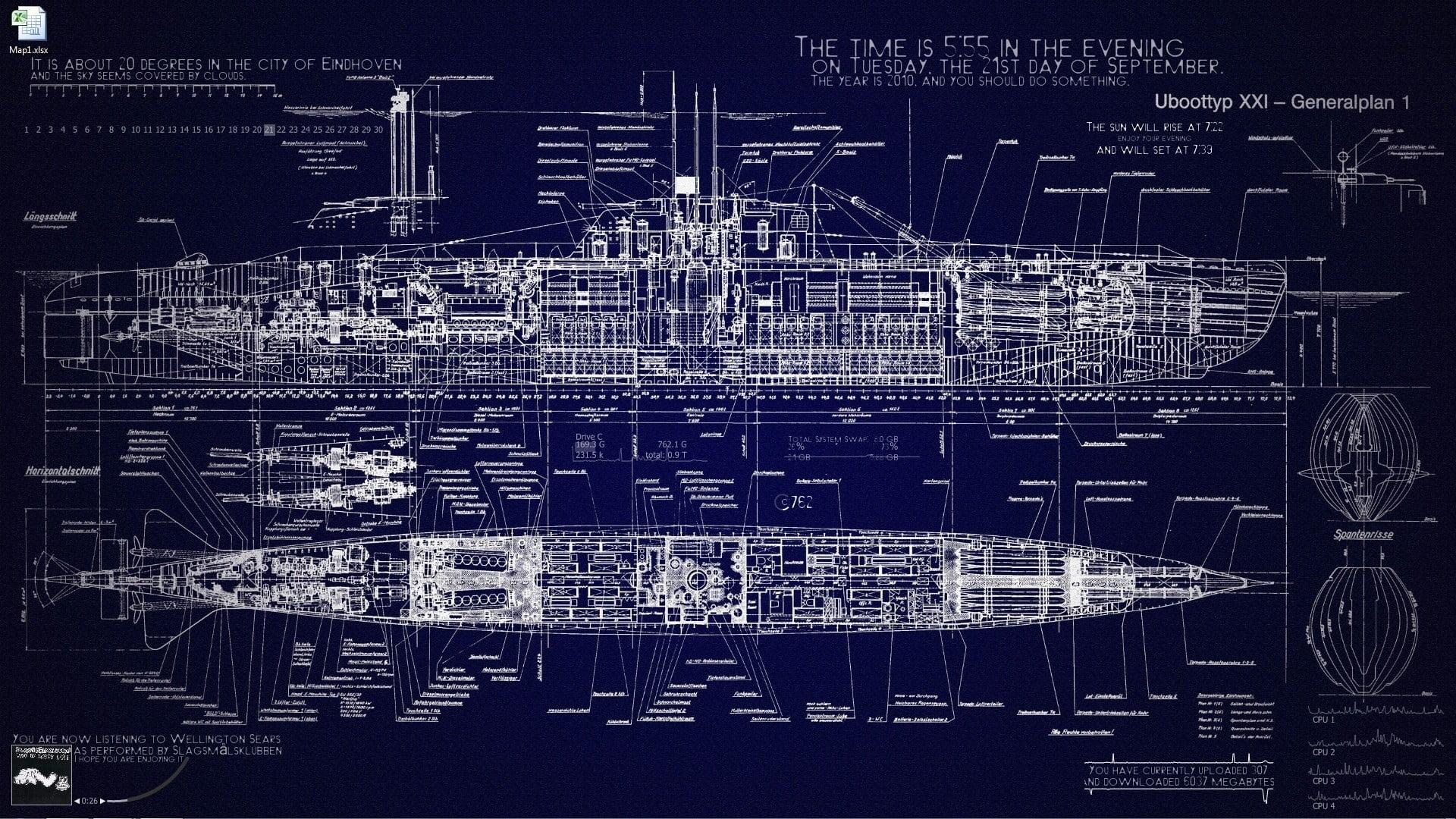 ship model scale layout, submarine, blueprints, vehicle hd