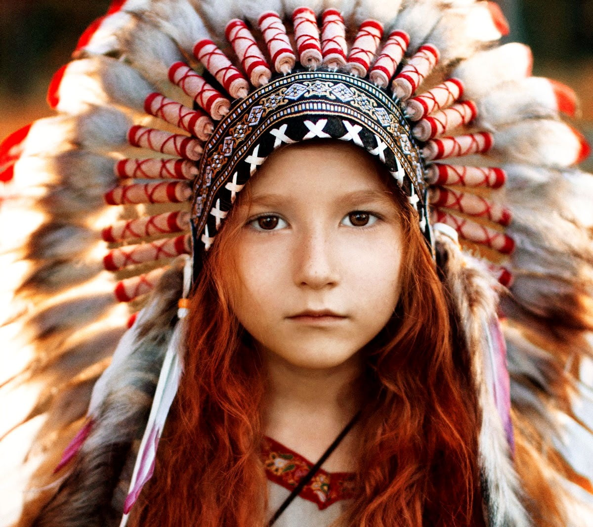 Selective Focus Photography Of Girl Wearing Native