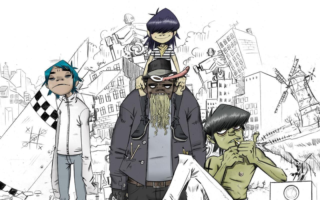 Free download gorillaz hd wallpapers. Gorillaz Band Poster Gorillaz Sketches Murdoc Niccals Noodle Hd Wallpaper Wallpaper Flare