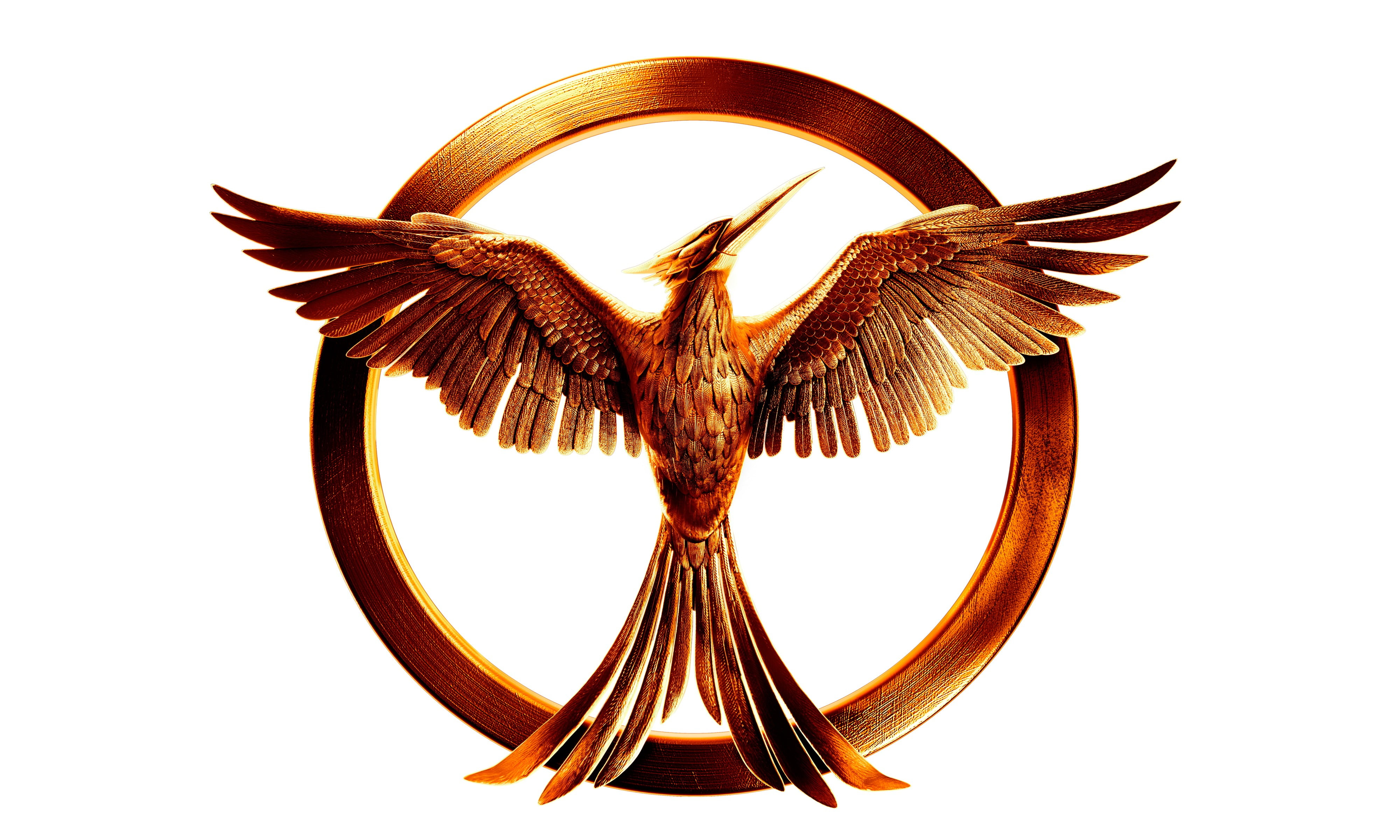 Brass Colored Mockingjay Symbol The Hunger Games Movies