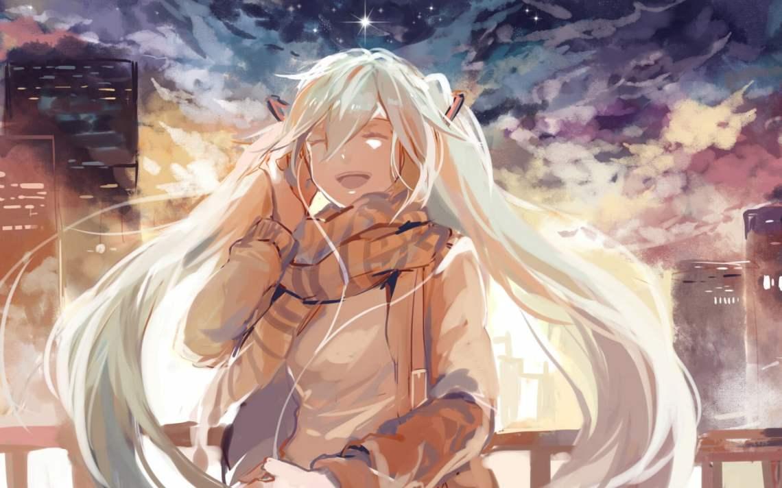 Anime Girl Listening To Music Wallpaper Hd Wallpaper Wallpaper Flare