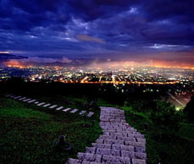 Green Grass Photography Cityscape Night Lights