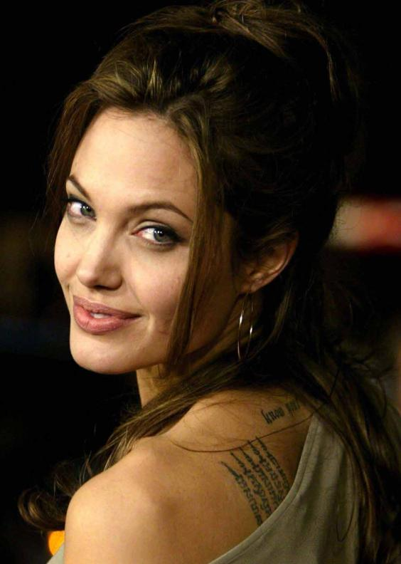 Download Angelina Jolie Tattoo Hollywood Actress Images