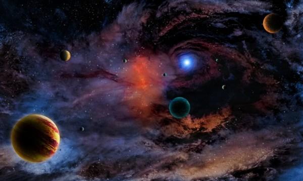 Wallpaper Universe Planet Nebula Stars WallpaperMaiden