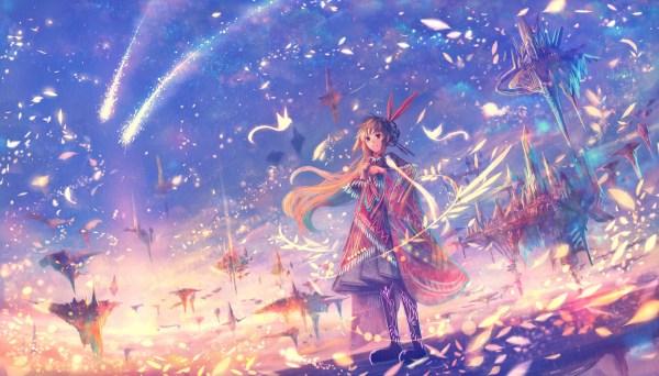 Download 1960x1120 Anime Girl Fantasy World Petals