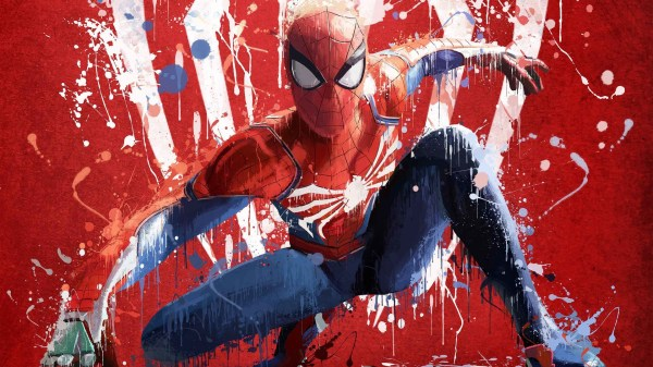 Download 1920x1080 Spider-man, Painting Wallpapers for ...