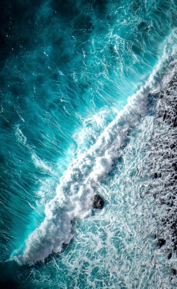 Download 1536x2048 Ocean, Waves, Foam, Top View Wallpapers ...