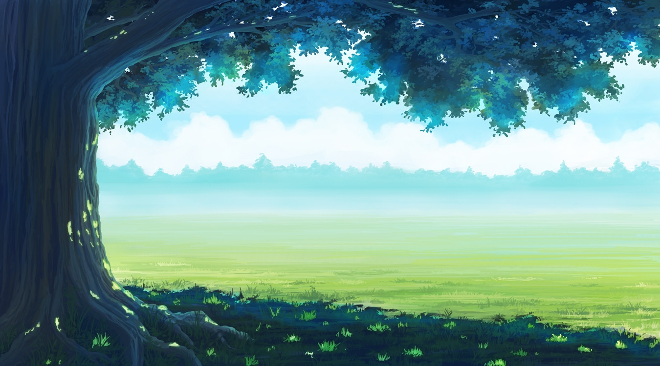 anime landscaope forest grass
