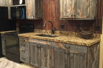 Barnwood Kitchen Cabinets