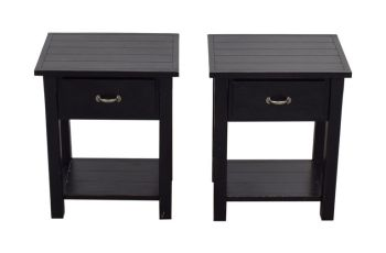 Black Side Table With Drawer