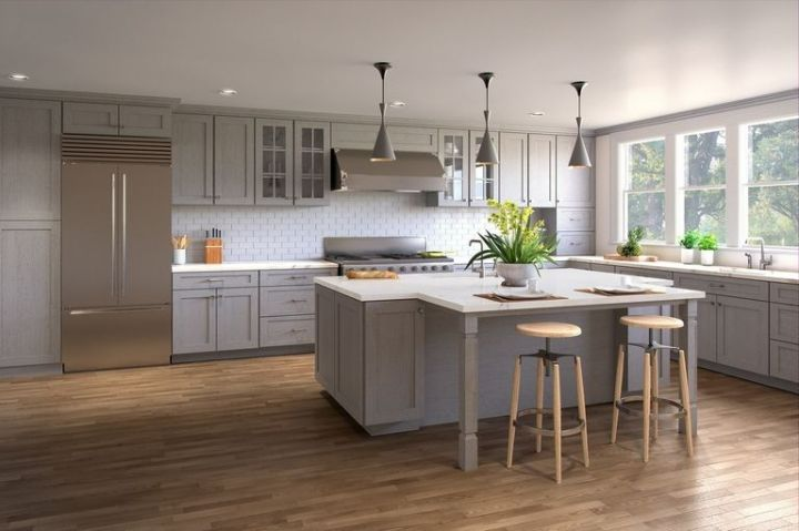 Grey Shaker Kitchen Cabinets