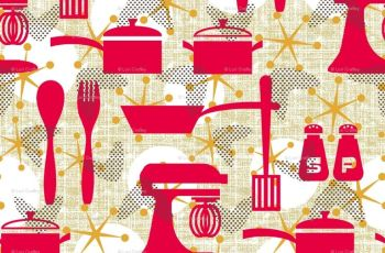 Retro Kitchen Wallpaper