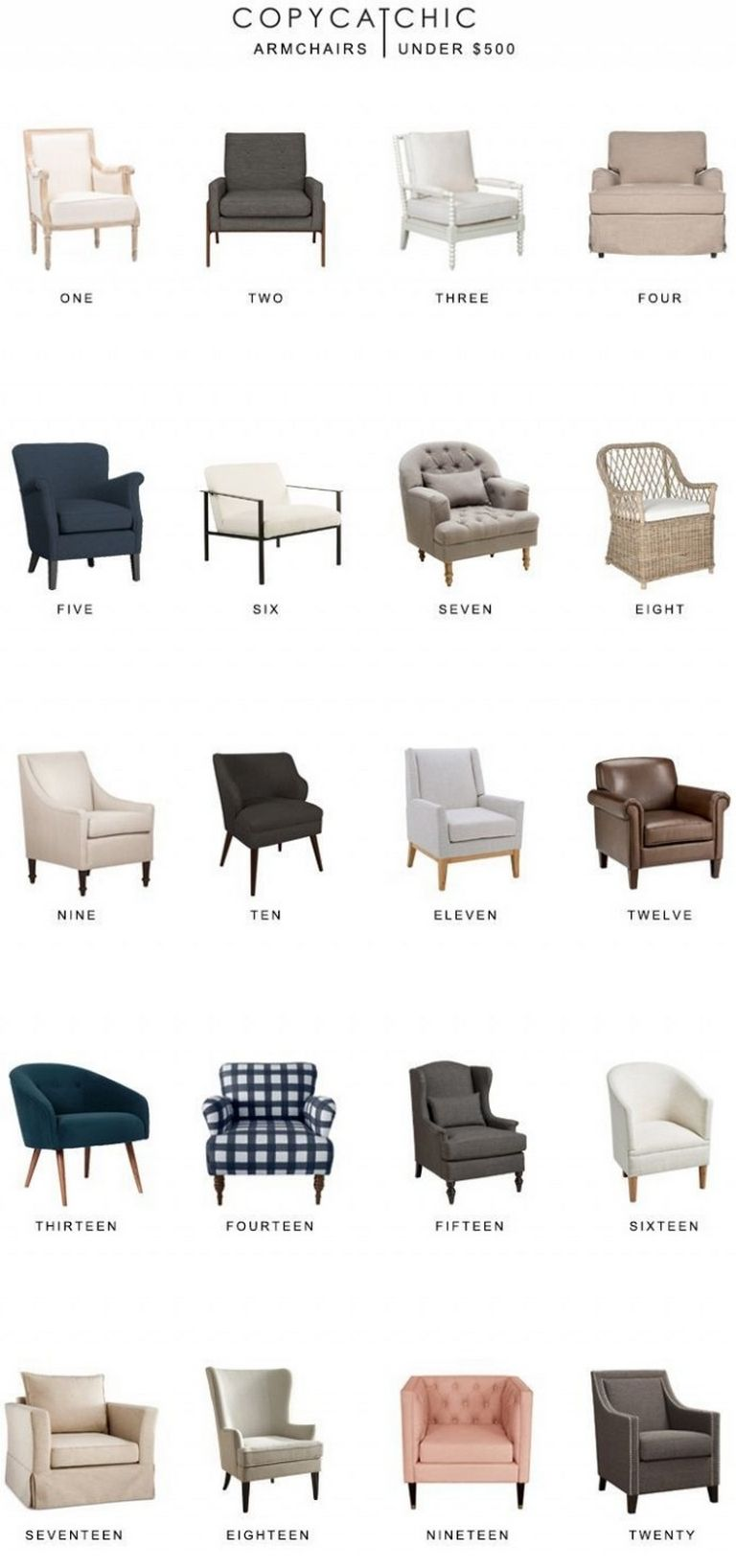 Types Of Armchairs