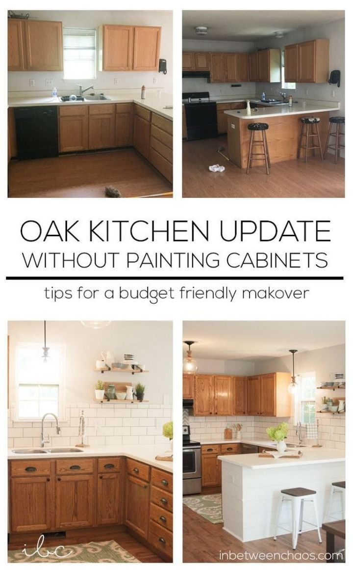 Updating Oak Kitchen Cabinets Without Painting